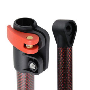 Detect-Ed Red LS Carbon Fiber Shaft for Minelab Equinox Metal Detector - Upper and Lower Accessories Minelab
