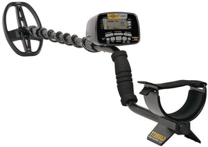 Garrett AT Gold Waterproof Metal Detector Bundle with 50' Carry Bag, Edge like Digger and Black Finds Pouch and Power Plus Battery Garrett Metal Detectors Garrett