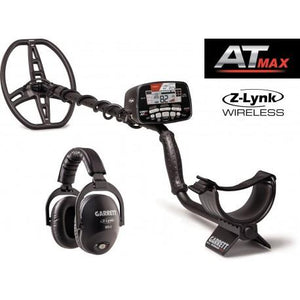 Garrett AT MAX Waterproof Metal Detector, MS-3 Wireless Headphones and Pro-Pointer AT Z-Lynk Pinpointer Bundle Garrett Metal Detectors,Package Deals High Plains Prospectors
