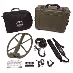 "Garrett ATX DEEPSEEKER Package with 20"" (50 cm) Deepseeker and NEW 11""x13"" Mono closed searchcoil with Extra FREE Prospecting Gear Garrett Metal Detectors garrett"