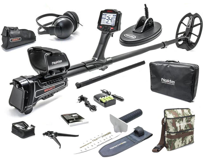Nokta Makro Impact Pro Metal Detector Package with Nokta Finds Pouch and Digger
