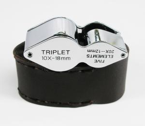 Jobe 10X and 20X Combo Triplet Jeweler's Loupe