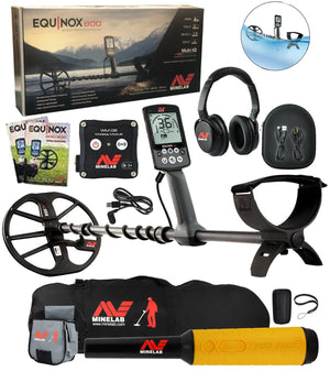 Equinox 800 Metal Detector Bundle, Pro-Find 35 Pointer with Minelab Gear