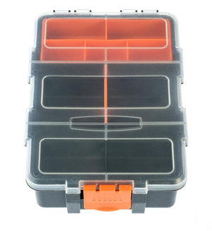 "Multi-Section Plastic Storage Box - Size: 8.1/2"" x 6"" x 2.3/4"" (Removable Tray & Divider) Accessories High Plains Prospectors"