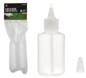 "8 1/4"" Plastic Snifter Bottle For Gold Panning, 4 FL Oz"