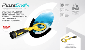 PulseDive Scuba Detector convertible to Pointer (2-in-1 Set) Waterproof up to 200 ft! Nokta MAKRO Metal Detectors NOKTA MAKRO