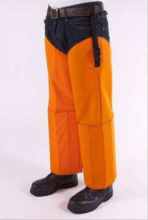 Snake Chapz™ Full Protection - Blaze Orange Color Snake Guards Crackshot