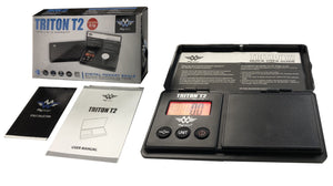 Triton T2 Precision Scale All Black w/ Red Backlit Digital Display Weight Scale High Plains Prospectors
