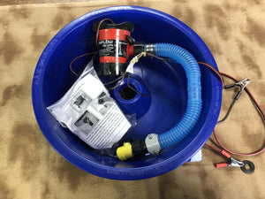Used Blue Bowl Plumbed with Pump and Leg Levelers High Plains Prospectors
