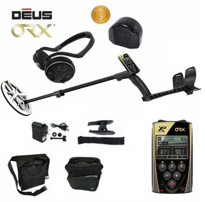 "XP ORX Wireless Metal Detector with Back-lit Display + WSAudio Wireless Headphone + 9.5"" Elliptical DD High Frequency Waterproof Coil and Free Gear Metal Detectors XP Deus"