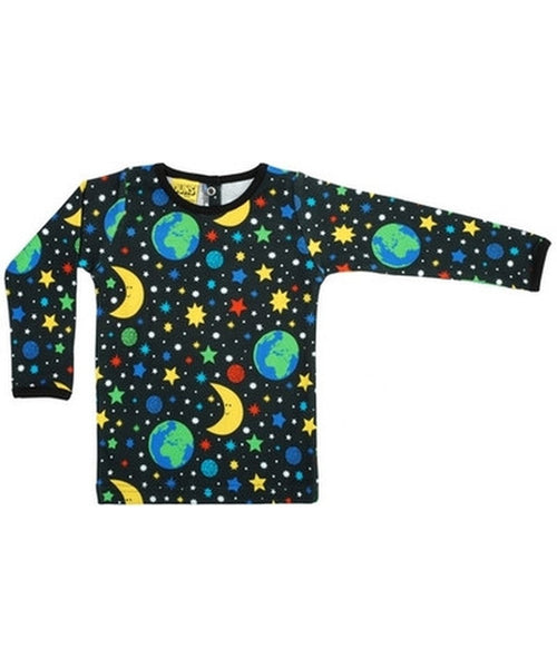 DUNS Black Mother Earth Long Sleeved Top