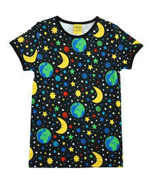 DUNS Black Mother Earth Short Sleeved Top