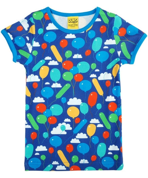 DUNS Blue Balloons Short Sleeved Top