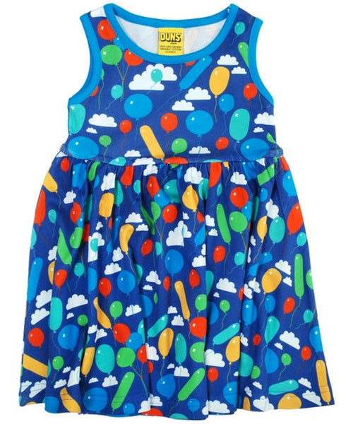 DUNS Blue Balloons Sleeveless Dress