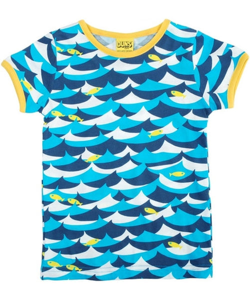 DUNS Blue Jumping Fish Short Sleeved Top