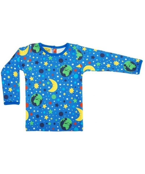 DUNS Blue Mother Earth Long Sleeved Top
