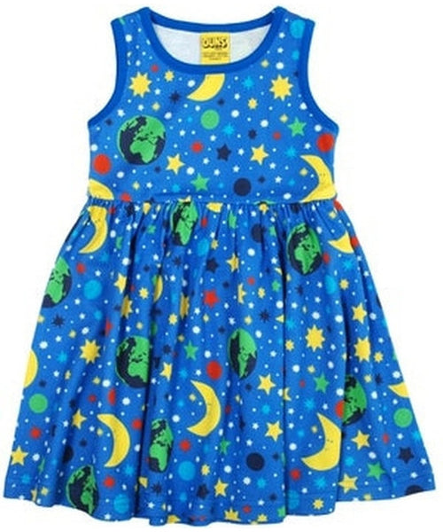 DUNS Blue Mother Earth Sleeveless Dress