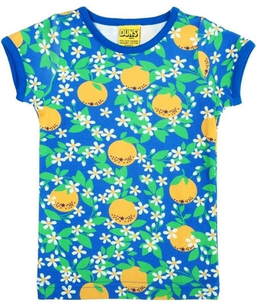 DUNS Blue Oranges Short Sleeved Top