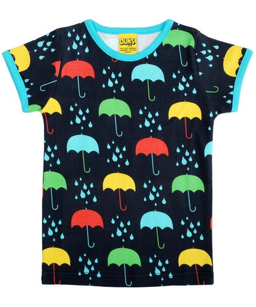 DUNS Dark Blue Umbrella Short Sleeved Top