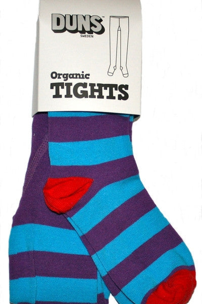 DUNS Tights - Blue/purple stripe