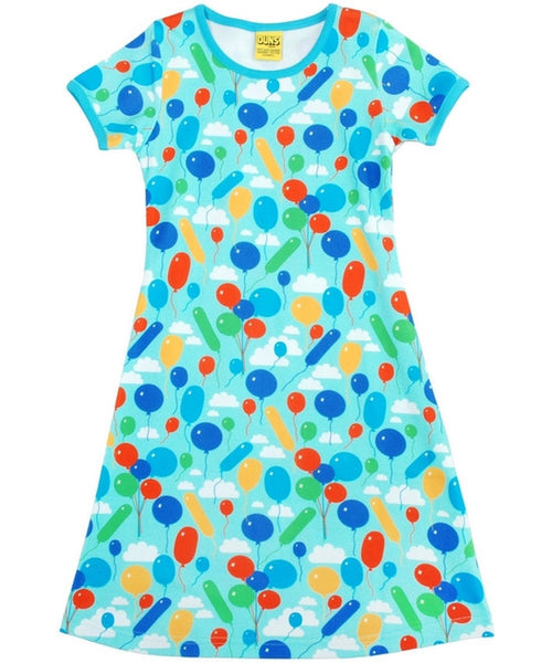 DUNS Turquoise Balloons Short Sleeved Dress