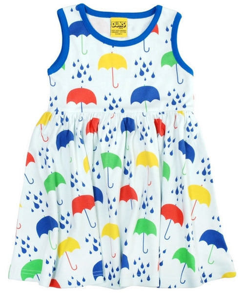 DUNS White Umbrella Sleeveless Dress