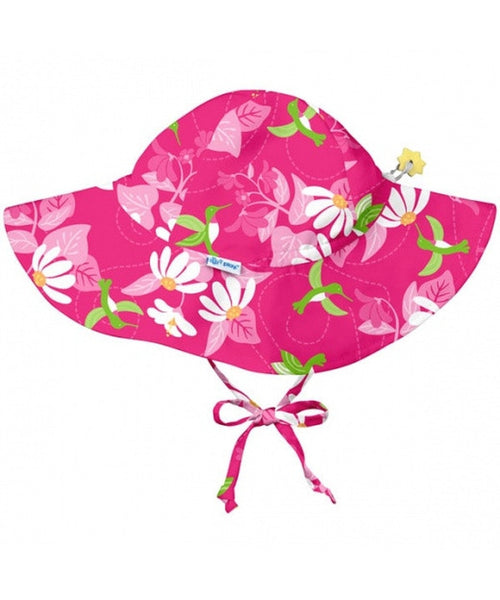 iPlay Wide Brim Sun Protection Hat - Fuchsia Hummingbird