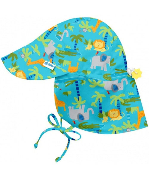 iPlay Wide Sun Protection Hat with flap - Aqua Jungle