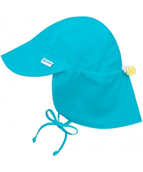 iPlay Wide Sun Protection Hat with flap - Aqua