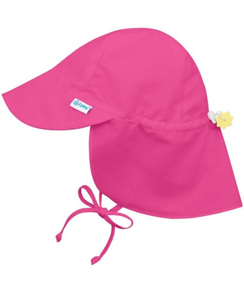 iPlay Wide Sun Protection Hat with flap - Hot Pink