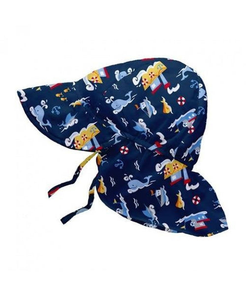 iPlay Wide Sun Protection Hat with flap - Navy Tugboats