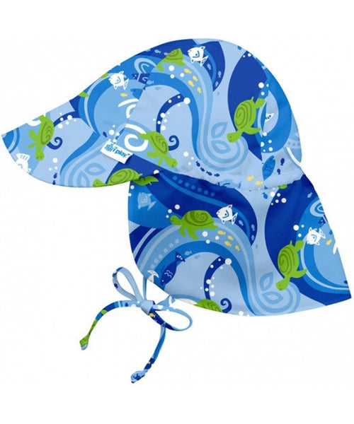 iPlay Wide Sun Protection Hat with flap - Turtle Batik
