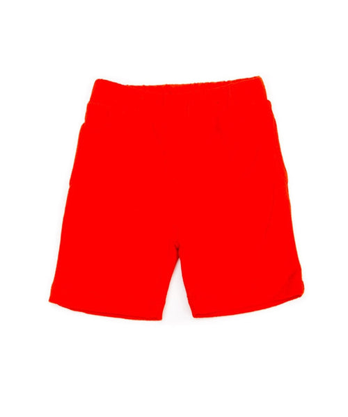 Lily-Balou 'Alex' red terry bermuda shorts