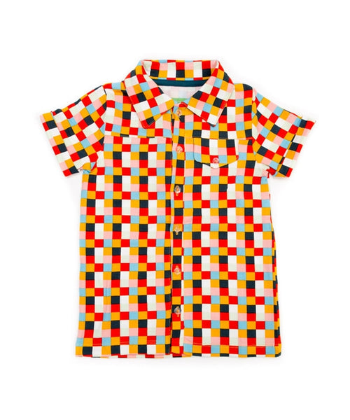 Lily-Balou 'Jeff' shirt - Blocks print