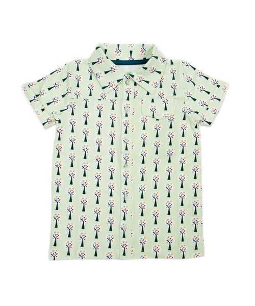 Lily-Balou 'Jeff' shirt - Trees print