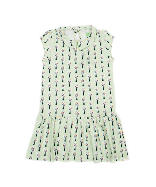 Lily-Balou 'Selma' dress with collar - Trees print
