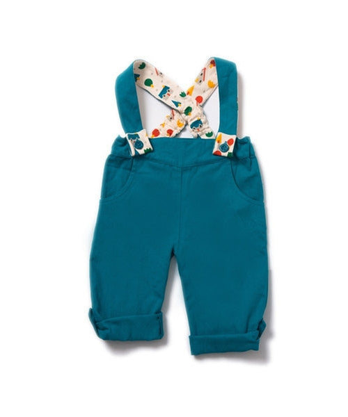Little Green Radicals Blue Bubble Bottoms Dungarees