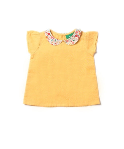 Little Green Radicals Corn Silk Double Cloth Blouse