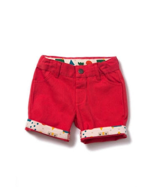 Little Green Radicals Pillar Box Red Shorts