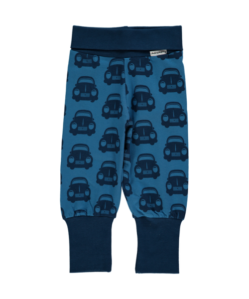 Maxomorra Cars Blue rib pants