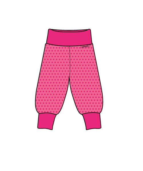Maxomorra Cerise Dots rib pants