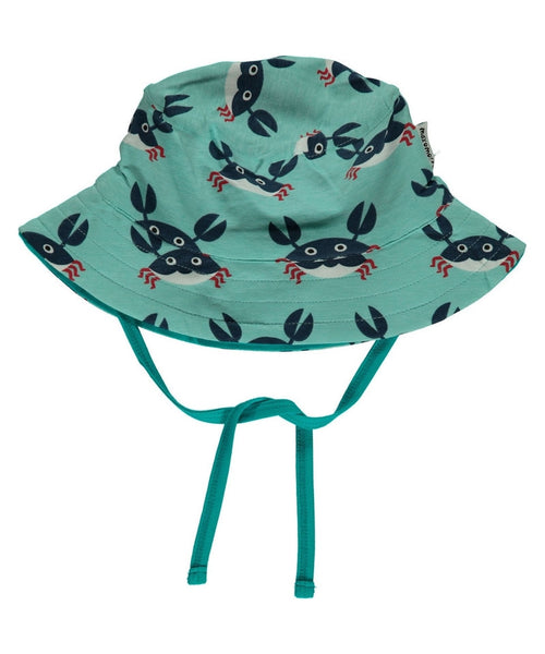 Maxomorra Crab baby sun hat with cord