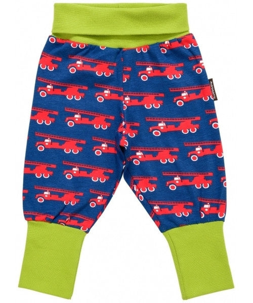 Maxomorra Fire Truck rib pants