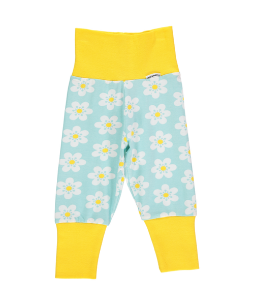 Maxomorra Flower rib pants