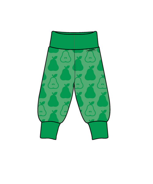 Maxomorra Green pears rib pants