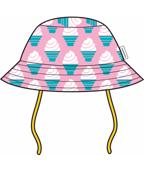 Maxomorra Ice Cream baby sun hat with cord