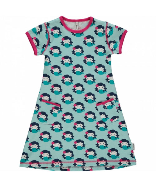 Maxomorra Mermaid Short Sleeve Dress