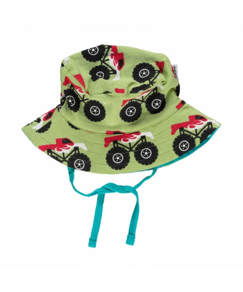 Maxomorra Monster Truck Sun Hat with Cord