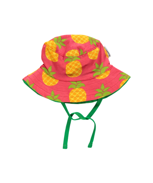 Maxomorra Pineapple baby sun hat with cord