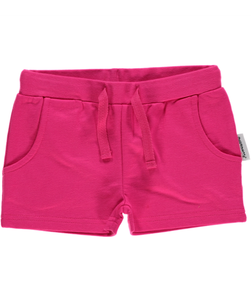 Maxomorra plain cerise shorts - basic (short length)